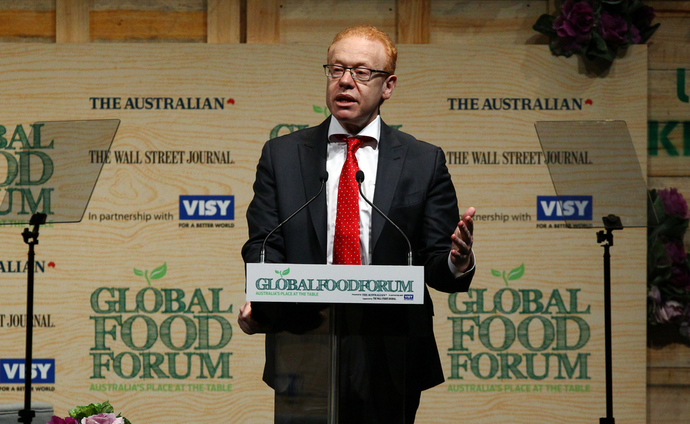 Anthony Pratt at the Global Food Forum on 15 April