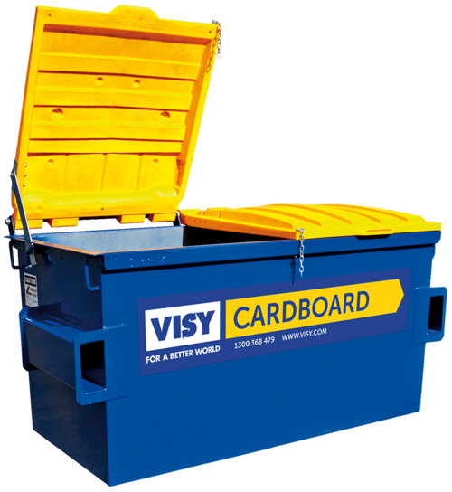Visy Business Recycling Equipment - Cardboard Bins, Compactor Bins