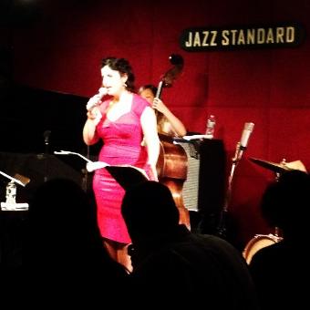 Melissa, resplendent at the Jazz Standard