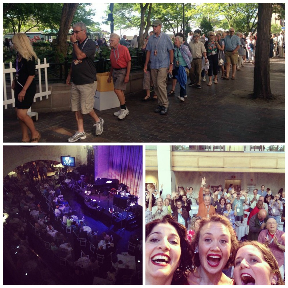 Scenes from the Xerox Rochester International Jazz Festival: the line to get into our show was around the block and we were thrilled to get a standing ovation.