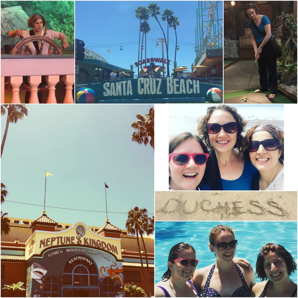 A day at the beach in Santa Cruz, followed by a quick swim in the hotel pool. Work hard, play hard, we always say!