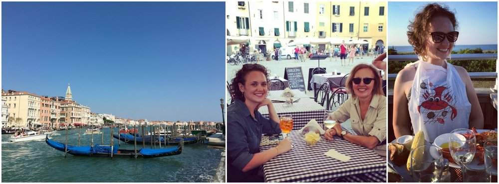 Hilary's summer highlights: Venezia, Aperol Spritzes in Lucca with mom, and a picture-perfect lobster dinner in Montauk.