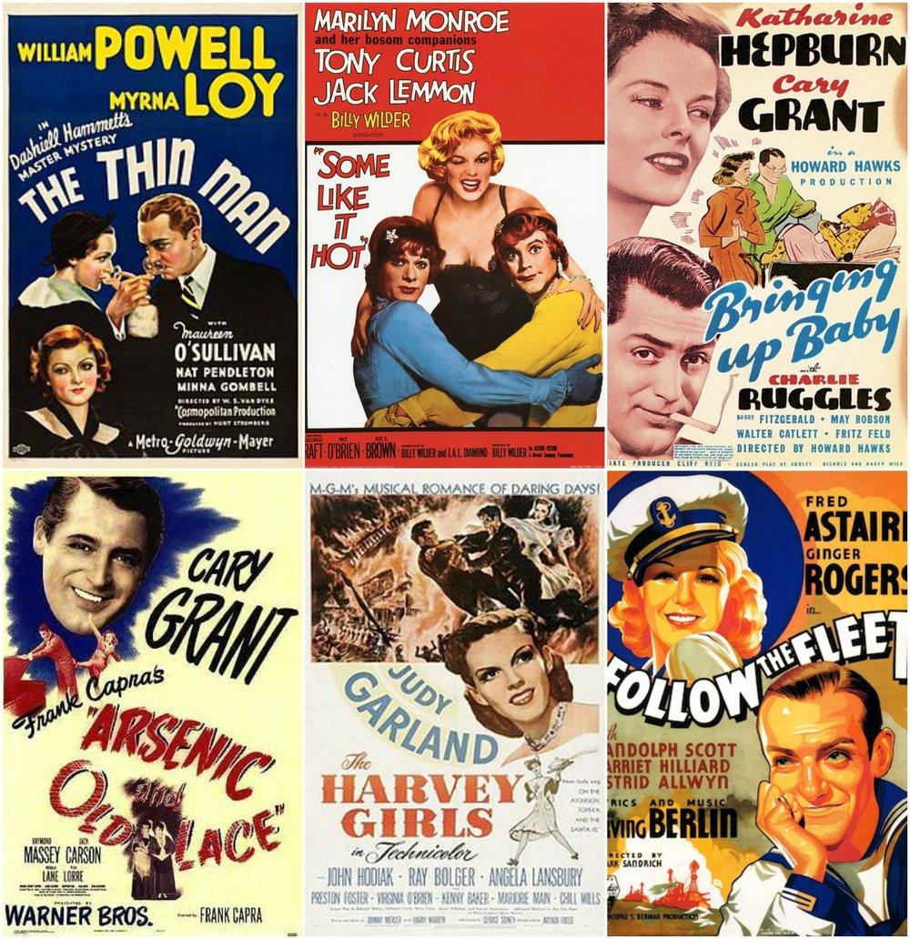 Some of Kat's favorite old movies...how many have you seen? (The Duchess gals are frantically updating our Netflix queues...)