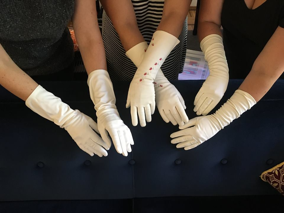 How amazing are these stage gloves, owned and worn by the Boswell Sisters themselves? We get a thrill whenever we show them to our audiences.
