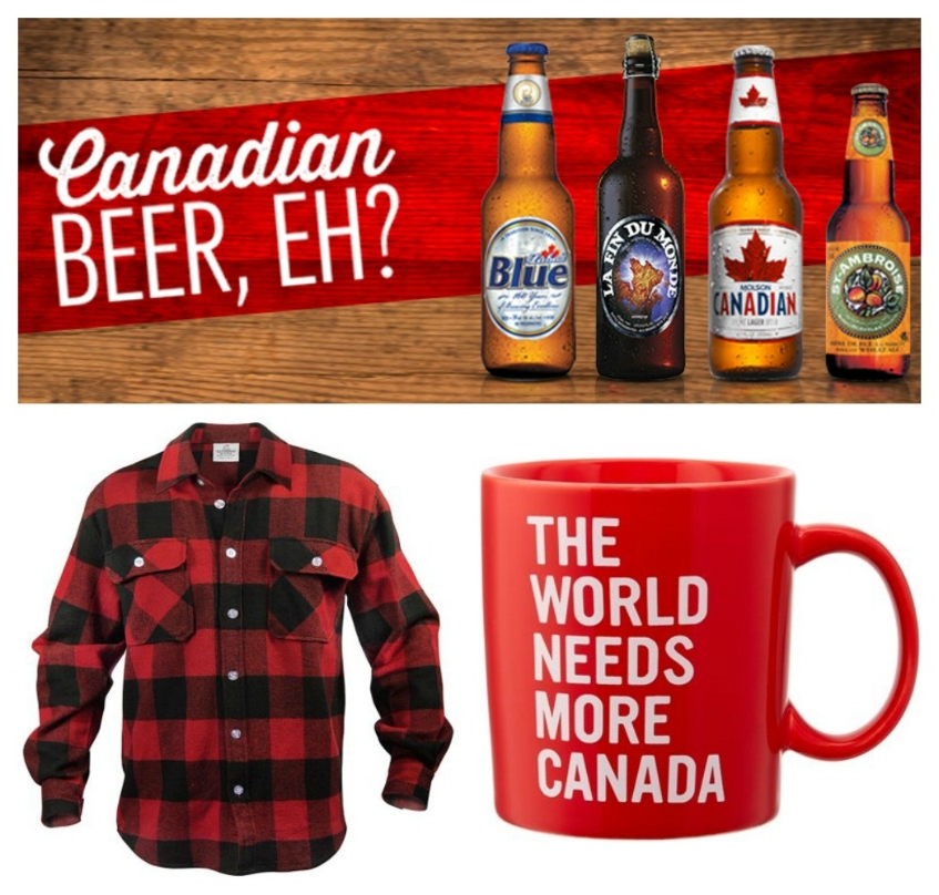 Plaid, Canadian beer, sturdy mugs, and politeness...sounds good, eh?