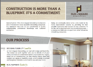 Fair & Square Remodeling Process Overview