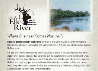 Elk River Site Selection Sell Sheet