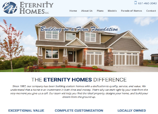 Eternity Homes Website Copy