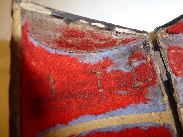 Chalice box showing pest infestation damage and decay - Material inspiration for 'Time soon will bring me to the tomb' - Image provided by Luba Nurse