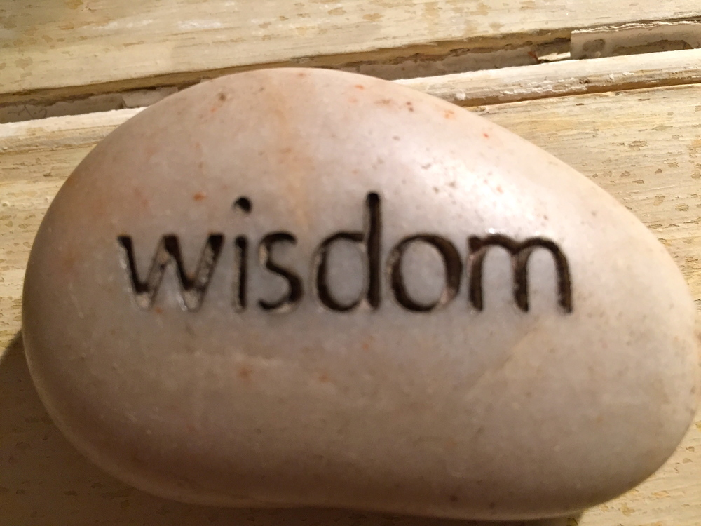Wisdom has been described as the perfect combination of intelligence and compassion. This stone has long been in my life