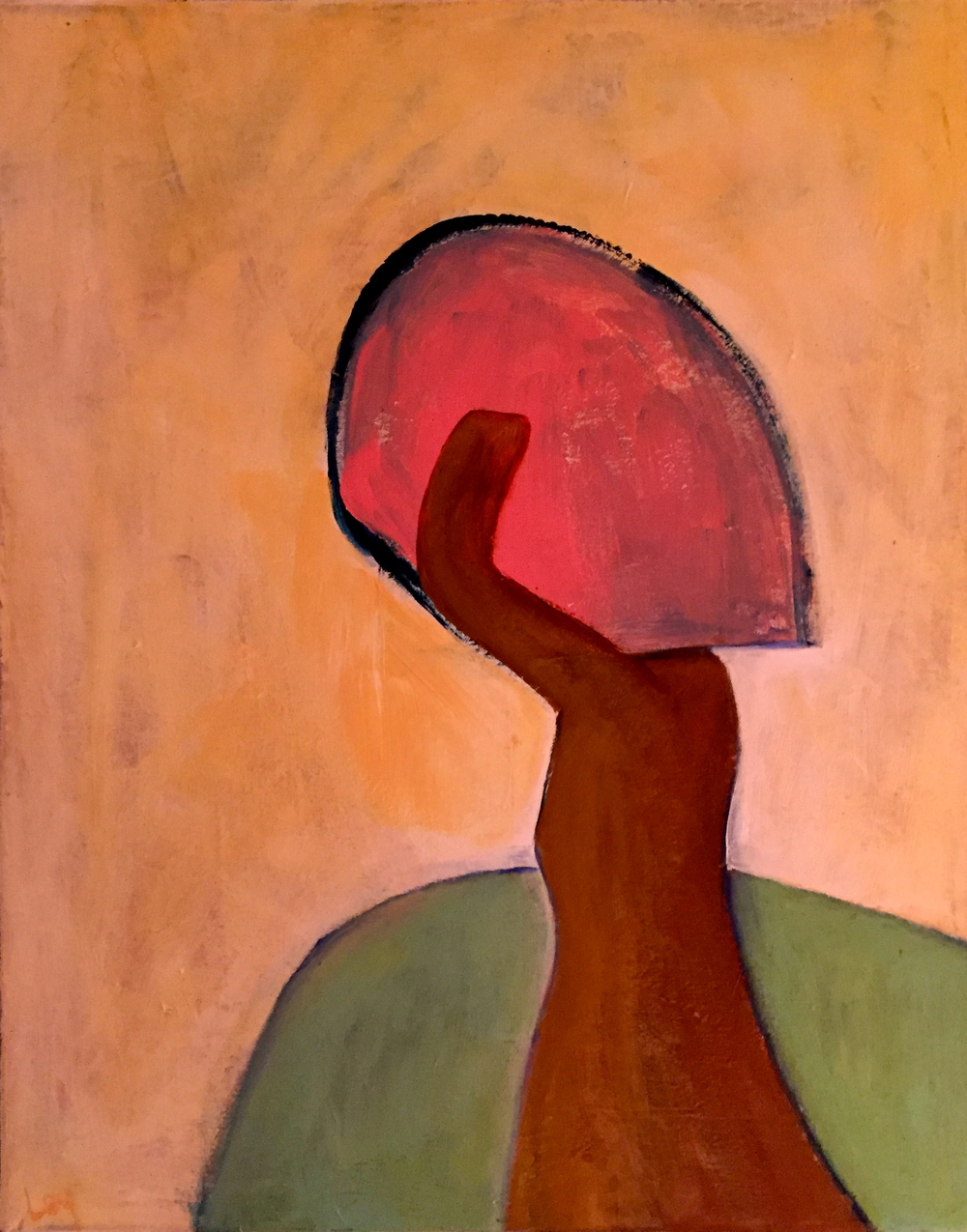'Bunky's Burden' - my husband's icon of my struggles this last summer. Bunky is his nick name for me - it is the burden of the heart...