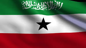 Flag of Republic of Somaliland,   a self-declared state internationally recognized as an autonomous region of Somalia.