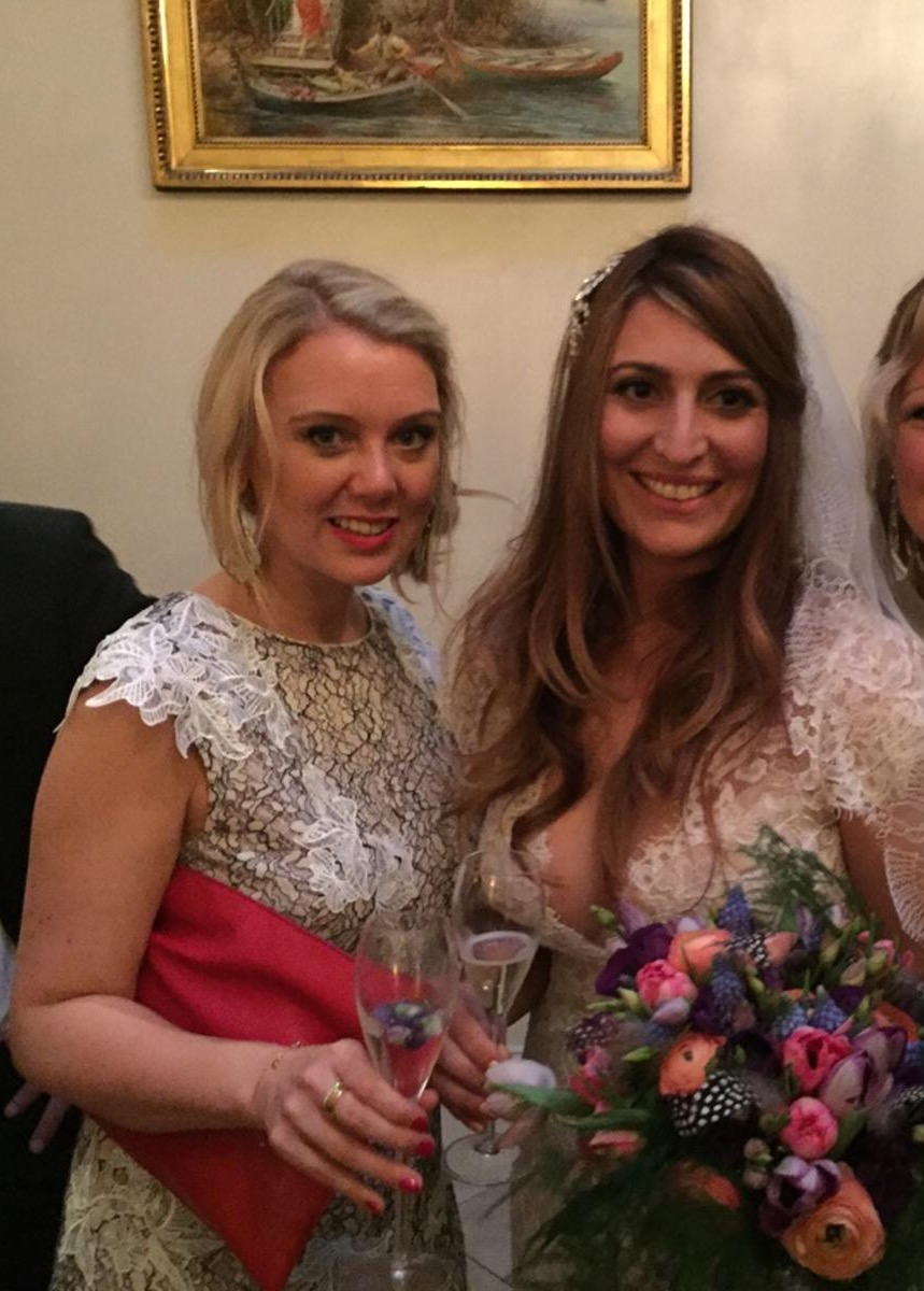 With Bride Julia at her wedding at Limewood