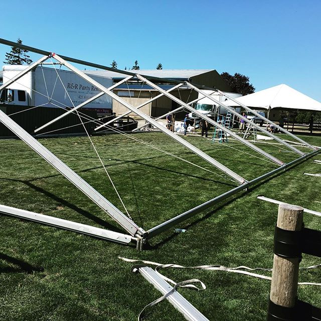 Tents are going up! #seattlepoloparty