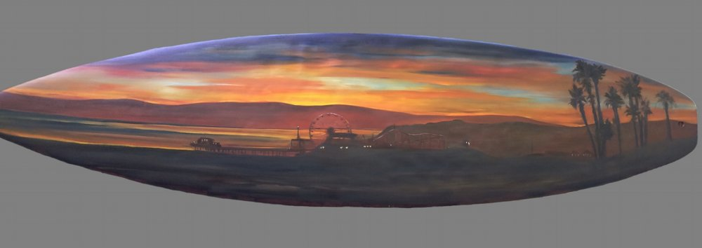 Santa Monica Pier at Sunset  Sold