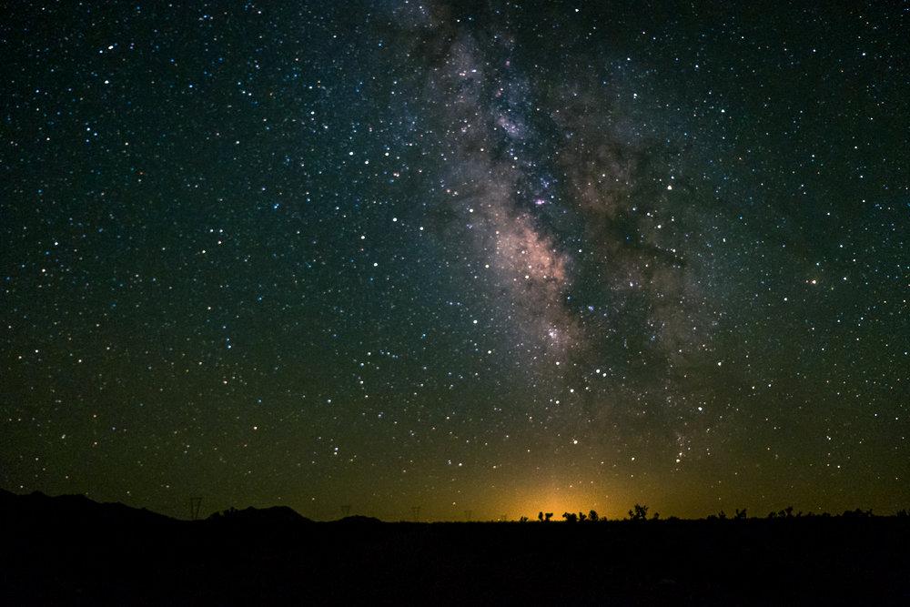 Nevada star sky