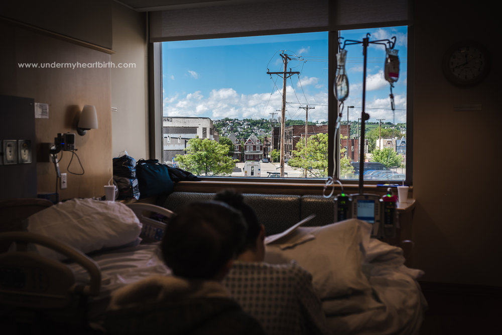 Pittsburgh from a birth room