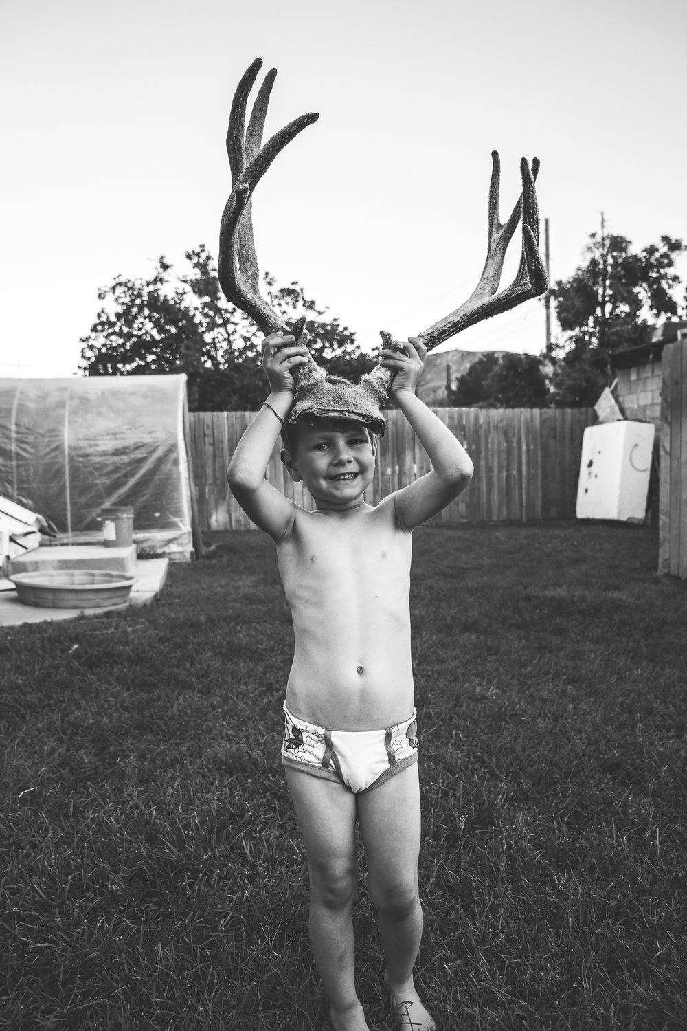 Boy with Deer antlers