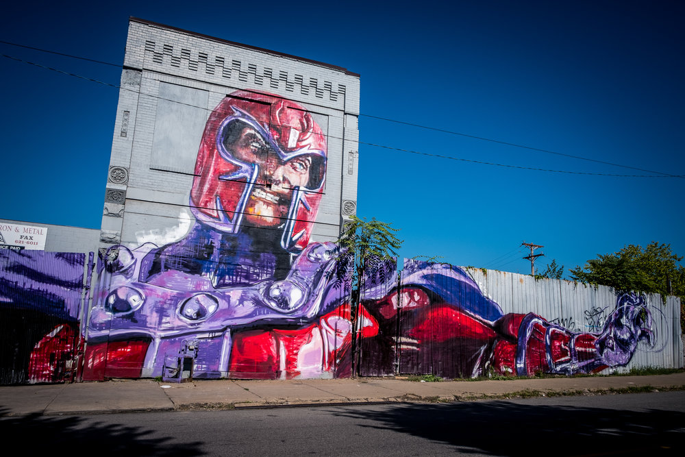 Magneto Mural Pittsburgh Strip District
