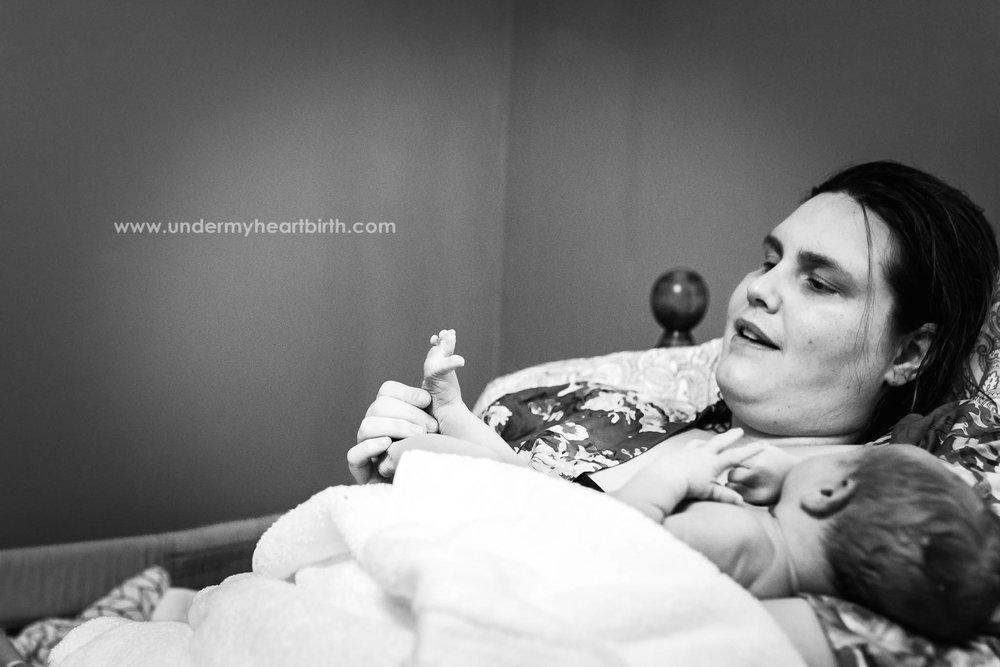 postpartum checking toes