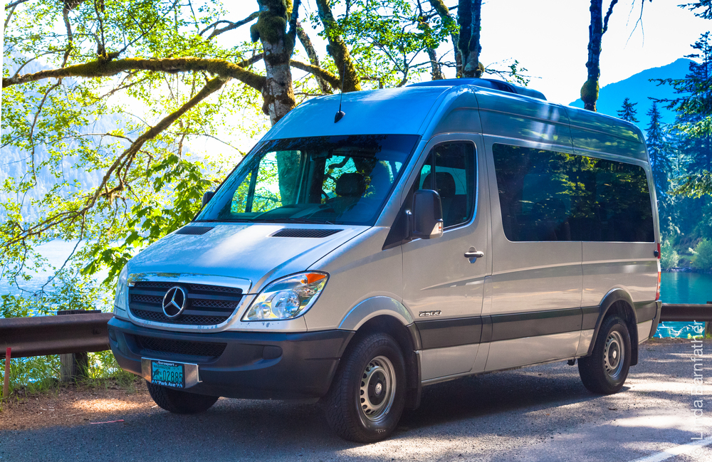 Our Mercedes Sprinter Van at Lake Crescent