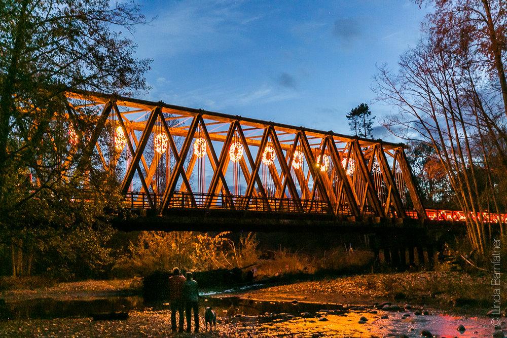Lighting of the Dungeness River Bridge