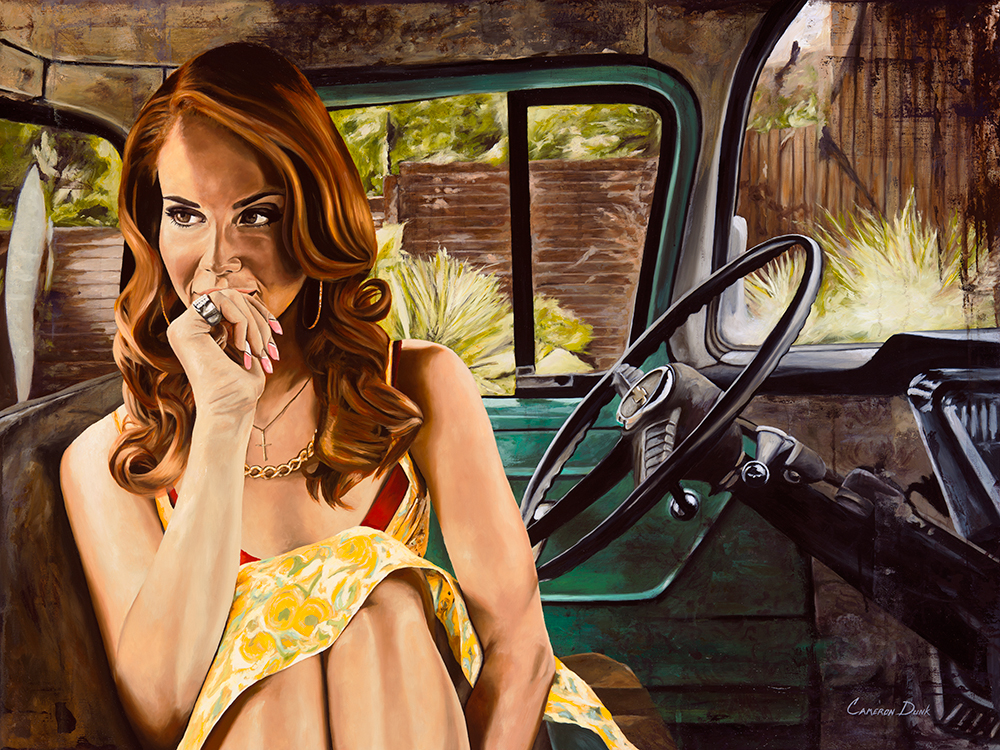 "Lana   30"" x 40""  Oil on Canvas  2016  Available. $3,500"