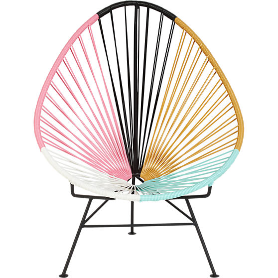 CB2's Cool Multi-hued Acapulco Outdoor Lounge Chair
