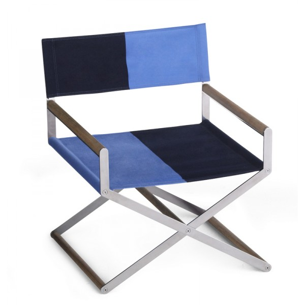 "Looking very ""Rothko"", this folding lounger from Link Outdoor is super-chic"