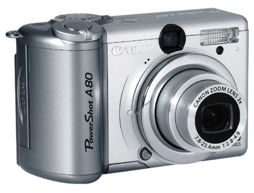 My first YouTube camera … the Canon PowerShot A80