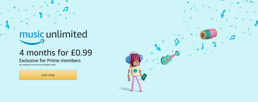 Try Amazon Music Unlimited 4 Months For 99p Uk Geekanoids