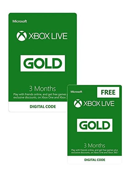 Xbox Live 3 Month Gold Membership + 3 Month FREE • UK