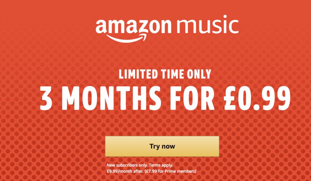 Amazon Music 3 Months MEGA DEAL !!! • UK — Geekanoids
