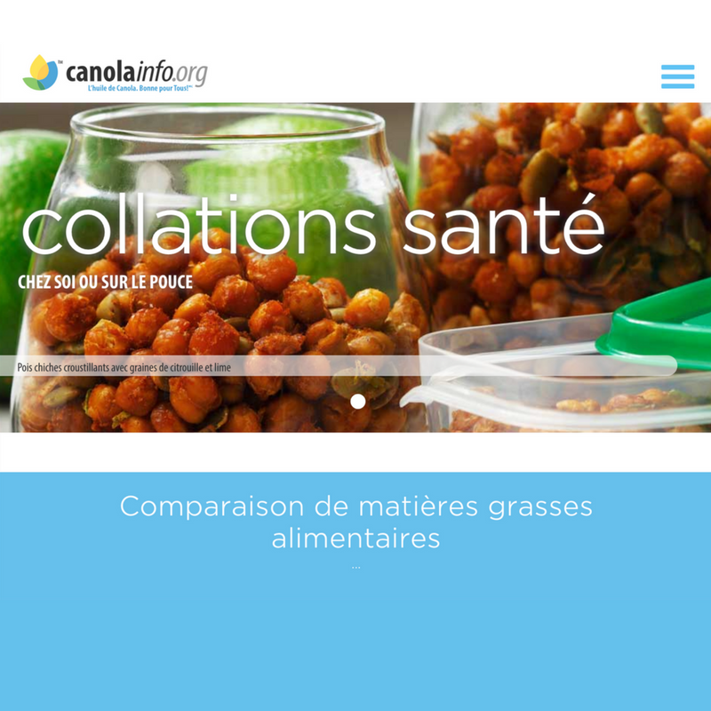 CanolaInfo French Microsite