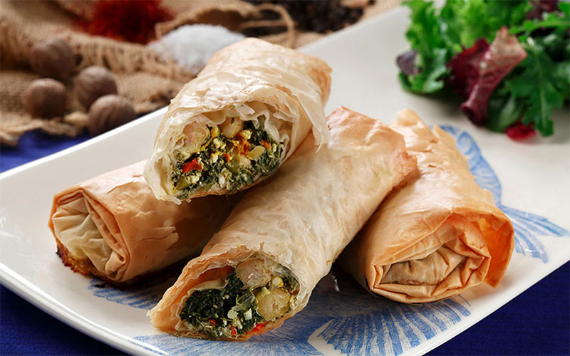 Phyllo Bundles with Saffron Flavored Chickpeas. Recipe courtesy of CanolaInfo