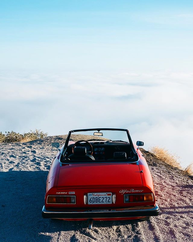 Alfa Spider, above the clouds