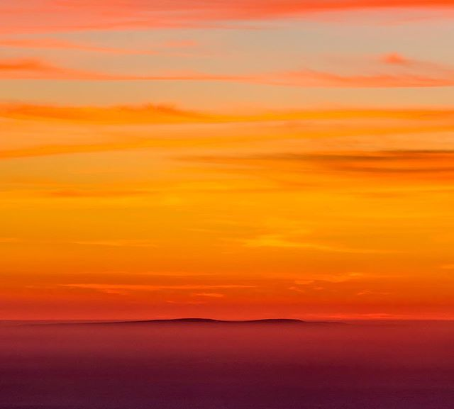 San Miguel Island, blending into an autumn sunset