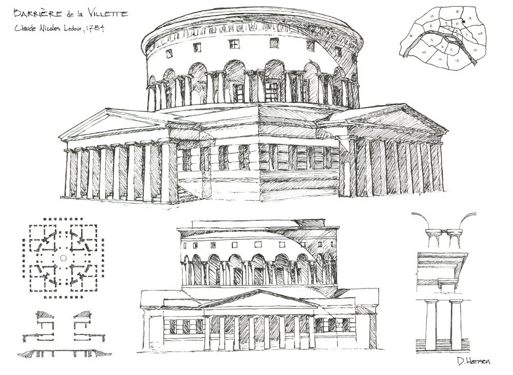 Architectural History drawing - Paris, 2013