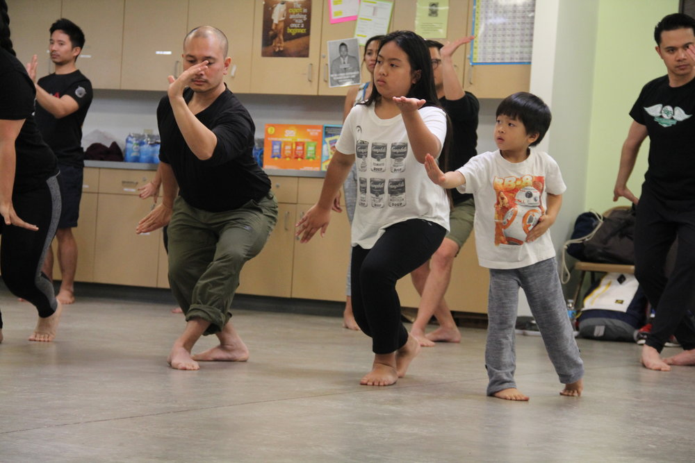 Participants learn and practice pangalay.