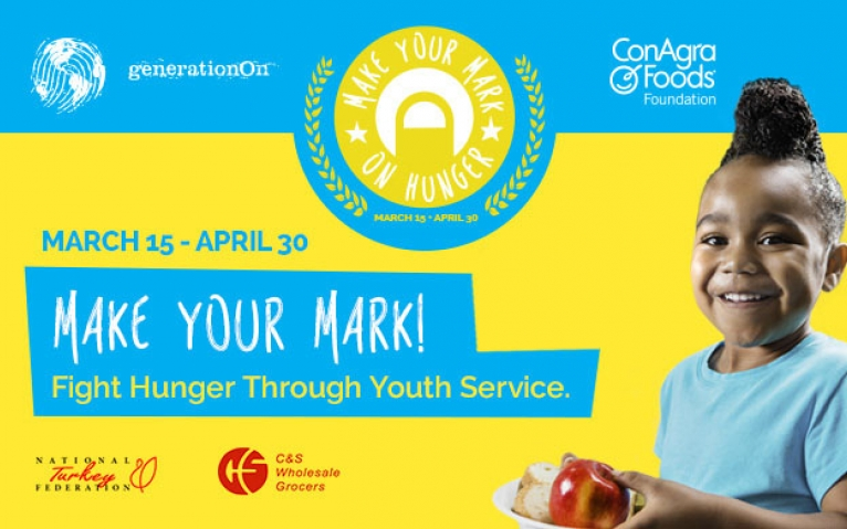"""2015 generationOn """"Make Your Mark on Hunger"""" campaign grant March 24th, 2015 - Points of Light Blog Volunteering and Social Good"""