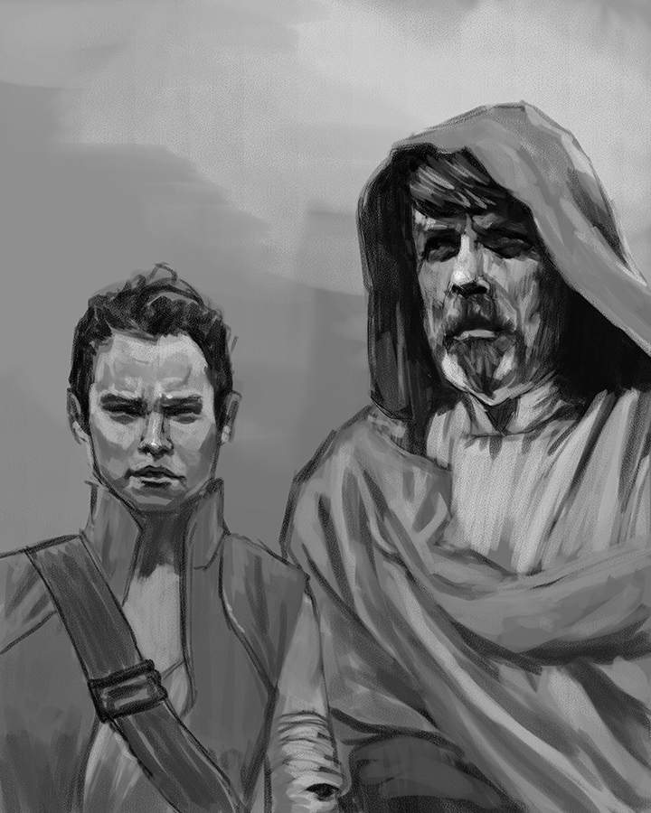 Rey and Luke (do I need to mention the movie?)
