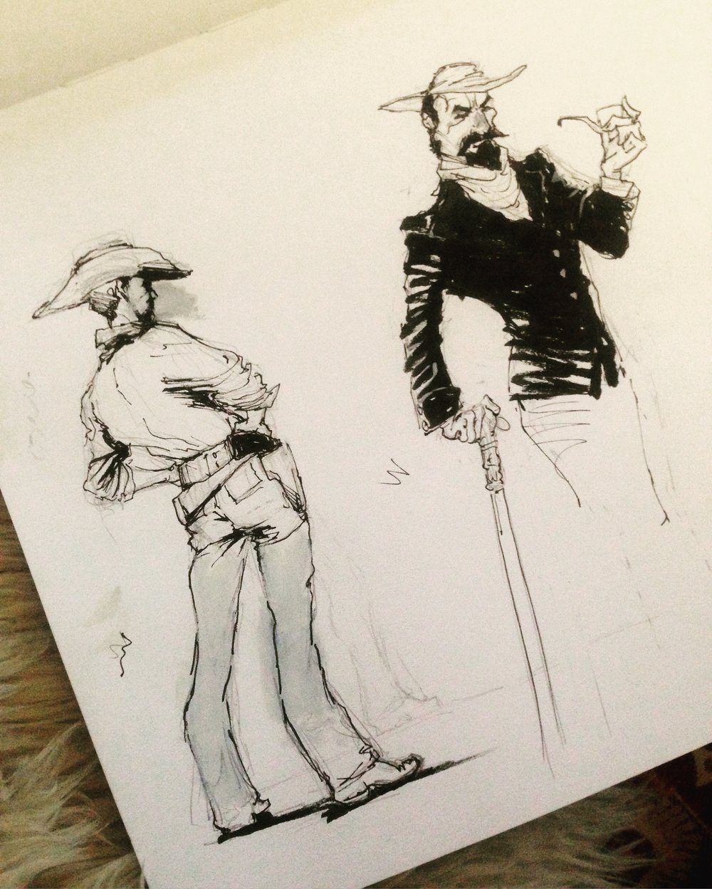 Cowboy ink sketches