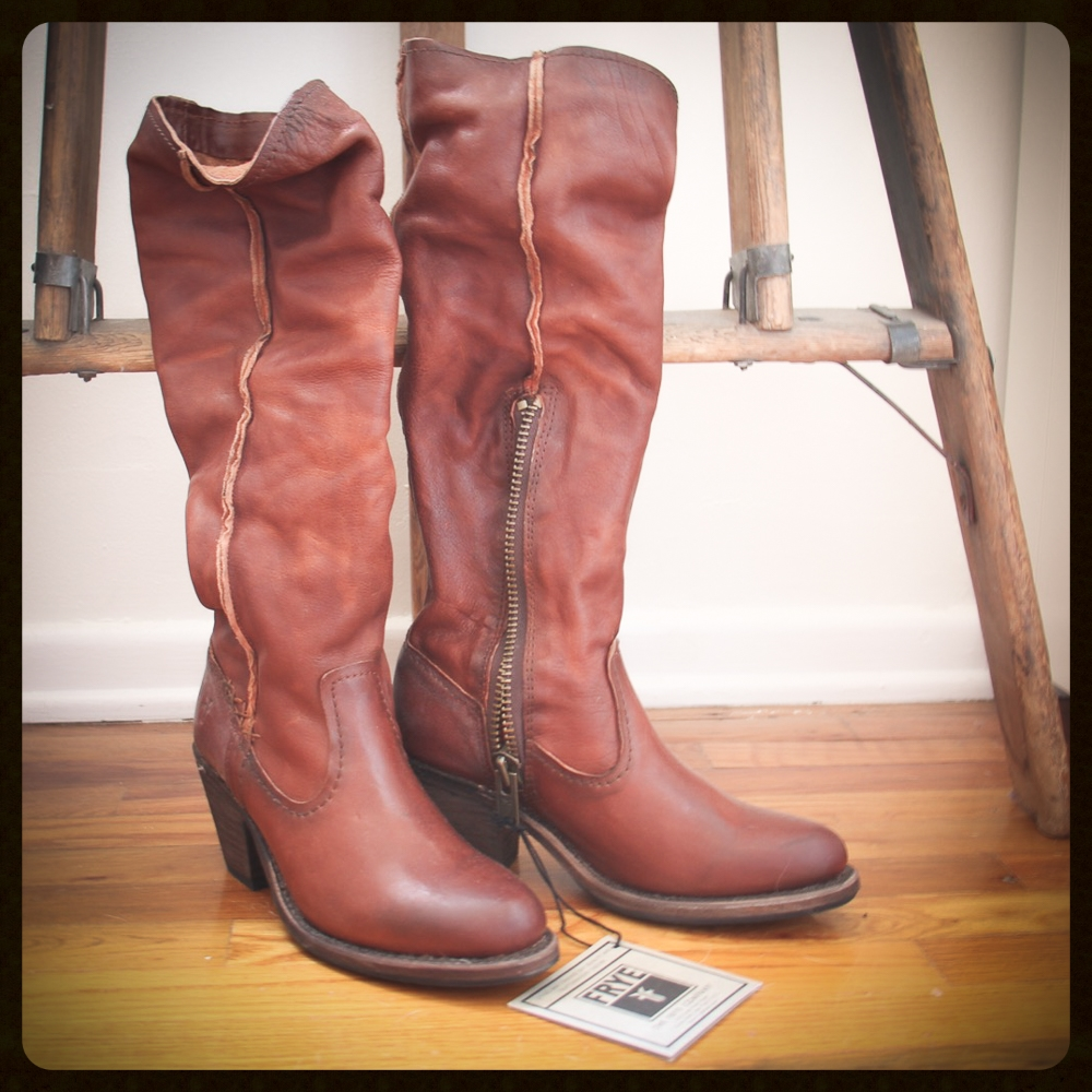 Spent $300 (a splurge, I know) on these Frye boots on HauteLook--originally over $500! And I immediately wore them to a commercial audition and booked it, so...obviously a good decision, right??