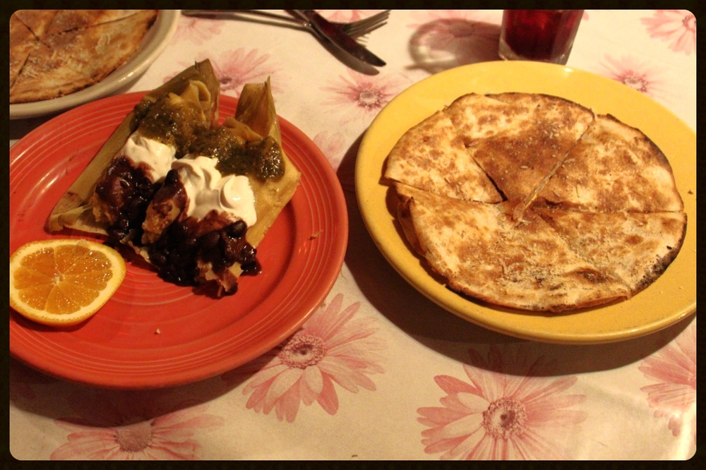 Tamales, and the aforementioned guava & goat cheese quesadilla!