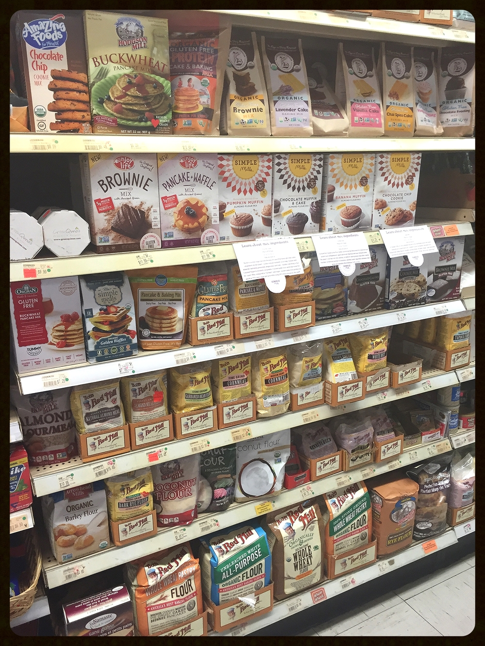 The baking aisle!