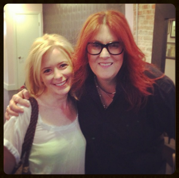 Post-super-blonde! Andrea Auman with yours truly.