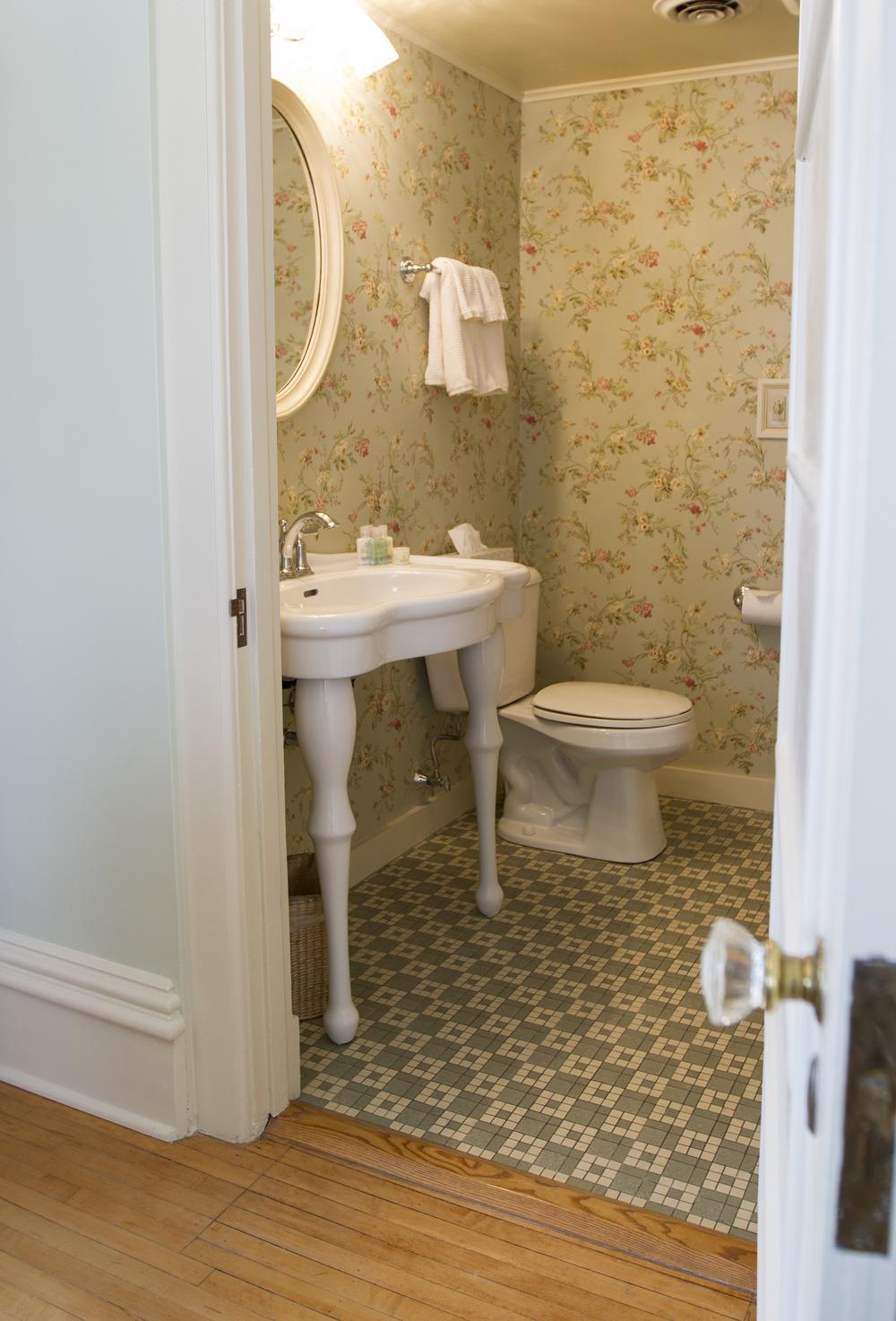 Updated bathroom fixtures
