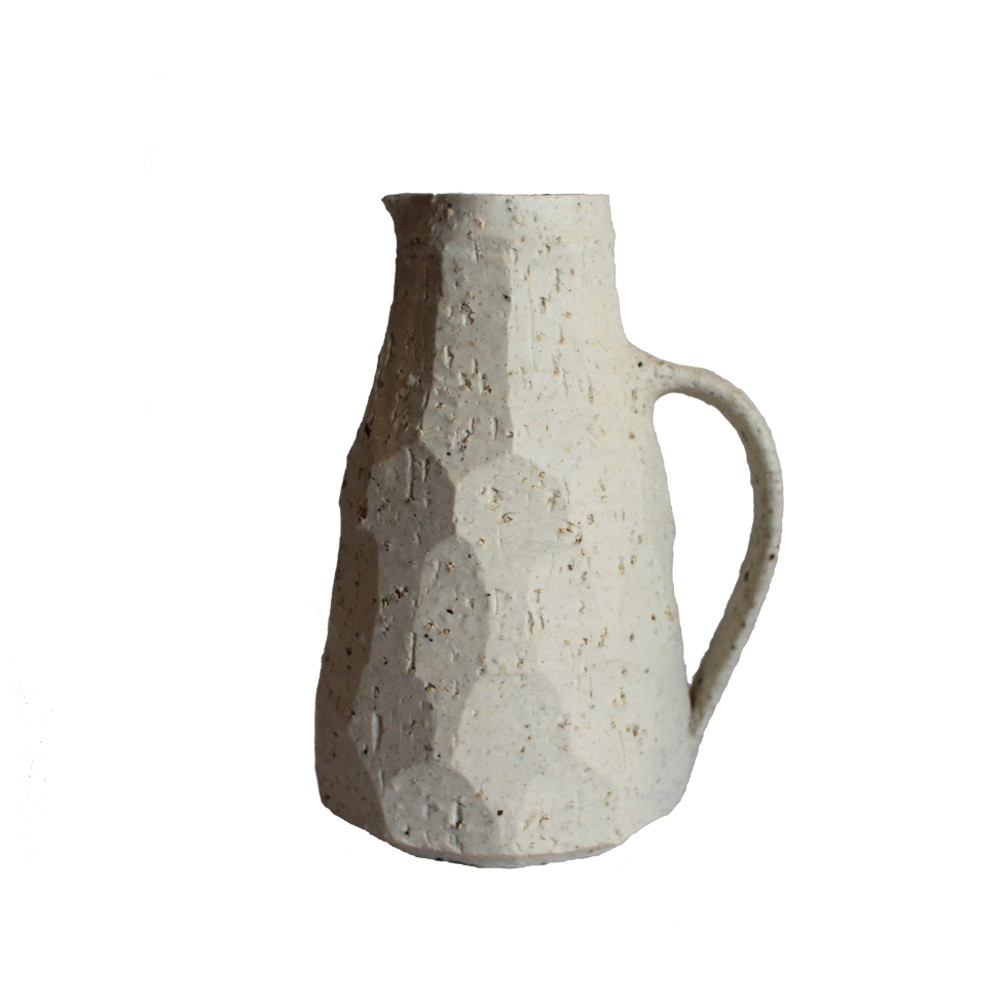 Iron Grey Porcelain Facet Jug