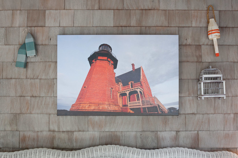 Gallery Wraps are another popular product. Gallery Wraps are photographic images printed on canvas and stretched around a sturdy wooden frame. They are a more contemporary display option and come ready to hang.