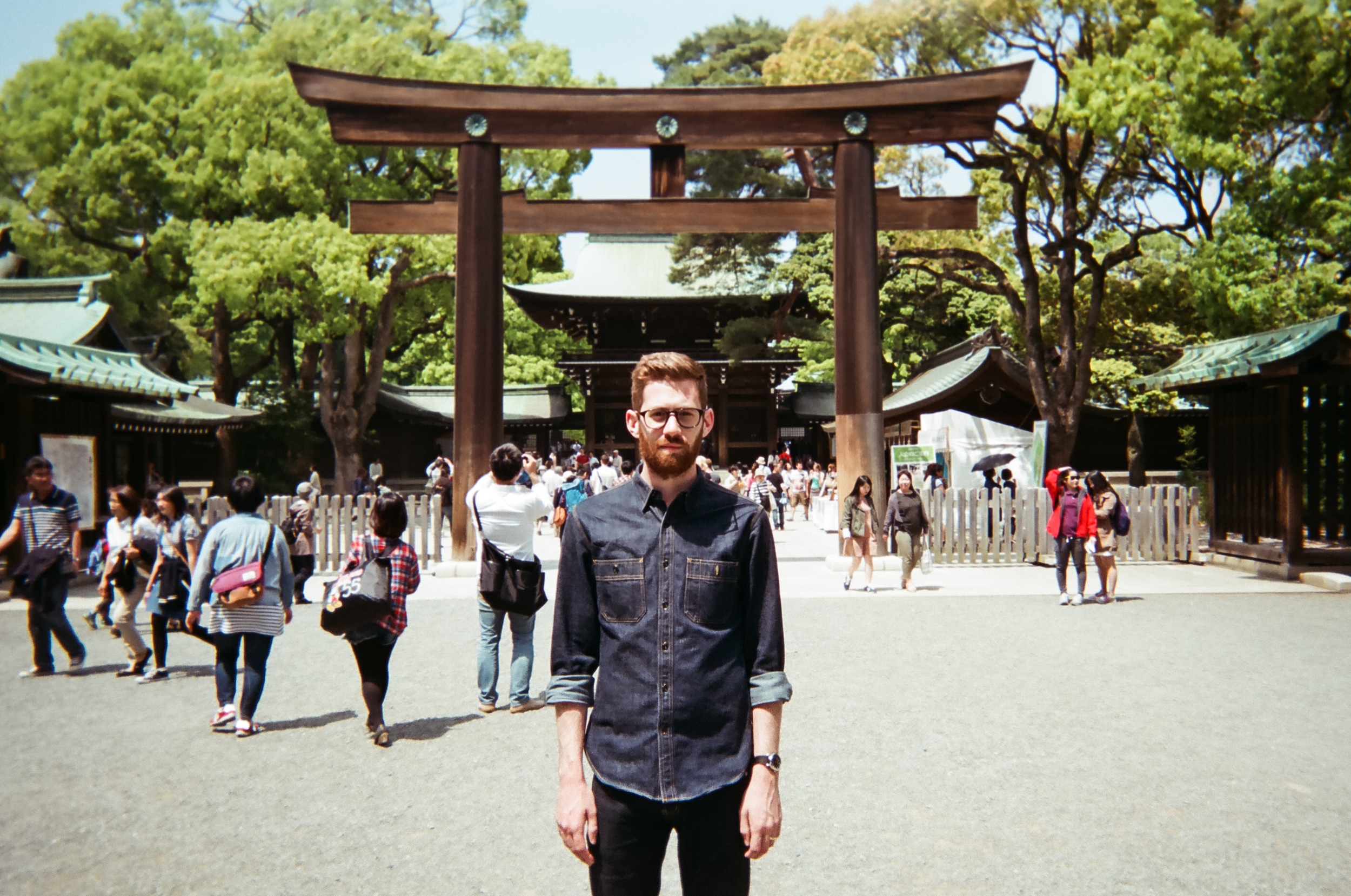 Tyler at the Meiji Jingu Temple